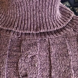 Sweet Romeo Sweaters - Lavender sparkly sweater xs